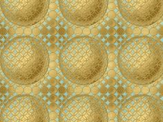 Love the pop of cool #turquoise peeking out of the warm #gold and the 3D feel of the #pattern #color