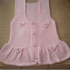 o kadar cok arastirdim ki Knitting For Kids, Baby Knitting Patterns, Crochet For Kids, Knitting Designs, Crochet Baby, Knitted Baby, Girls Sweaters, Baby Sweaters, Baby Bolero