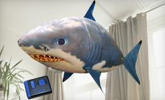 Giant remote control shark..