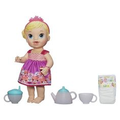Baby Alive Lil' Sips Baby Has a Tea Party Doll (Blonde)