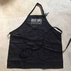 Black Great Lakes Brewing company Apron Black Great Lakes Brewing company Apron made from recycled plastic bottles Head to Toe Other