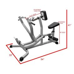 Shop for Valor Fitness Seated Row Machine/Chest Pull Machine Back Exercise Equipment w/ Independent Arms T Row Rotating Handles. Get free delivery On EVERYTHING* Overstock - Your Online Sports & Fitness Store! Dumbbell Chest Workout, Arm Workout Men, Tone Arms Workout, Woman Workout, Workout Women, Arm Workout No Equipment, Diy Gym Equipment, Home Made Gym, At Home Gym