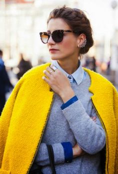 Top it off with a yellow coat
