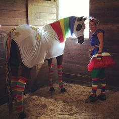 Rainbow bright and star light halloween costume! ♡♡♡ my arabian mare!
