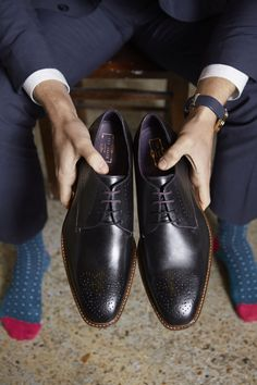 Smarten up your wedding look with a pair of Ted's signature Derby shoes.
