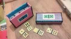 Domino game (with box) hama beads by 71titou71
