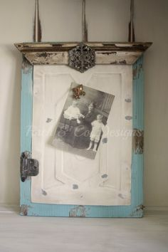 Shabby Chic Magnet Board Blue