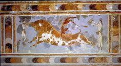 Tauromachia, palazzo di Cnosso, Creta