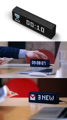 LaMetric Time Wi-Fi Clock for Smart Home  This is a cool looking gadget perfect for smart homes and office.It lets you check time, email, get update on social media and much more.