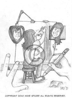 Katie's Portrait #caricatures mikescartoons@hotmail.com