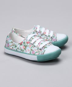 Pampili Turquoise Floral Sneaker