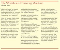 The Wholehearted Parenting Manifesto, Dr. Brené Brown
