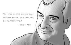 RIP Douglas Adams by SeagoonSanders.deviantart.com on @deviantART