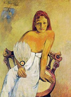 Donna con ventaglio.  Essen. Museo Folkwang