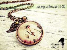 ♥ Kolibri ♥ Kette // spring 2015 von ♡ vintage, please! ♡ auf DaWanda.com