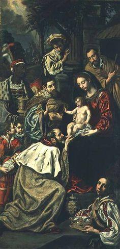 La Adoración de los Magos, pintó de Luis Tristán.