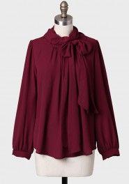 f5dbecb1b9 Rue De Tilsitt Necktie Blouse at. Miss S · Clothes