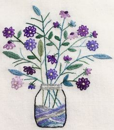 Marvelous Crewel Embroidery Long Short Soft Shading In Colors Ideas. Enchanting Crewel Embroidery Long Short Soft Shading In Colors Ideas. Hand Embroidery Stitches, Crewel Embroidery, Embroidery Techniques, Ribbon Embroidery, Cross Stitch Embroidery, Embroidery Designs, Seed Stitch, Embroidered Flowers, Needlework