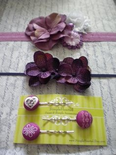 Pretty #bows and #clips I love #purple