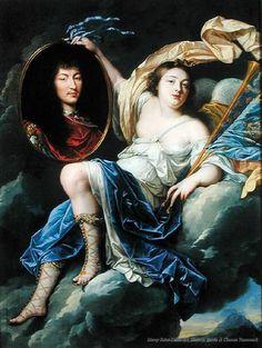 Jean Nocret Fame Presenting a Portrait of Louis XIV (1638-1715) to France.