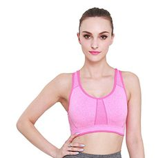 33036682cc MISSALOE Women s Seamless Sports Bras with Removable Cups High Impact Yoga  Bra  gt  gt