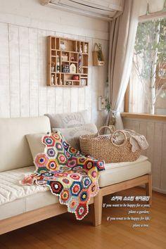 코바늘뜨기 헥사곤 모티브 블랭킷 동영상뜨는법 도안첨부!!~Crochet stitch Hexagon Blanket http://blog.naver.com/ssanta302/20168745405