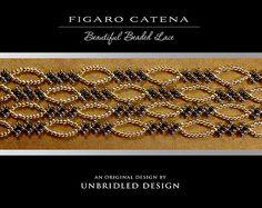 Figaro Catena Lace beaded bracelet PDF Tutorial by UnbridledDesign