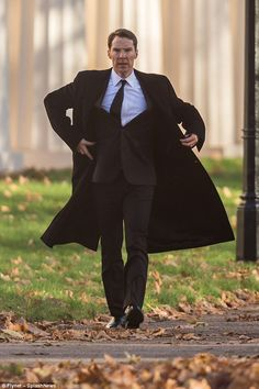 Lothario: Actor Benedict Cumberbatch, played the clean-cut playboy once again on Sunday as he donned a sharp black suit to film scenes in Sky drama Patrick Melrose Benedict Sherlock, Benedict Cumberbatch Sherlock, Sherlock Bbc, Benedict And Martin, Teddy Boys, Doctor Strange, Baker Street, Martin Freeman, Actors & Actresses