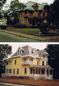 Before and after a home uptown.