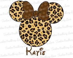 Disney Iron On Transfer MINNIE CHEETAH by TwelveBradburyLane, $4.25