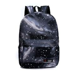 Women's Printing Casual Backpack Galaxy Stars Universe Space School... (31 RON) ❤ liked on Polyvore featuring bags, backpacks, black, star backpack, backpack bags, day pack backpack, rucksack bags and daypack bag
