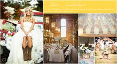 A citrus wildflower wedding is all about showcasing the beautiful outdoors and good ole southern charm. Plan your country wedding with style here.