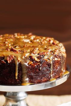 This easy sticky date pudding with a gorgeous golden crunchy nut topping. Dense, rich and so delicious, it's the perfect dessert for Christmas festivities. Recipe by the Australian Women's Weekly. Christmas Pudding, Christmas Desserts, Easy Christmas Cake, Best Christmas Cake Recipe, Christmas Cooking, Easy Desserts, Delicious Desserts, Yummy Food, Baking Recipes