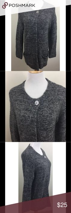 Pure Jill Oversized Cardigan Sweater XS One Button Pure Jill Oversized Cardigan Sweater XS One Button Front Tunic Gray J Jill Soft!  Oversized - super soft and comfy Fabric content - 34% Nylon, 28% Cotton, 19% Acrylic, 13% Mohair, 5% Wool, 1% Cashmere Excellent, gently owned condition - no flaws noted J. Jill Sweaters Cardigans