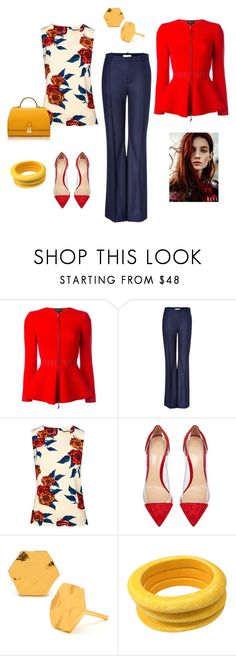 """""""ANOTHER WORK OUTFIT"""" by marjoriejfp on Polyvore featuring Giorgio Armani, Bouchra Jarrar, Darling, Gianvito Rossi, Tuleste, Florian London, women's clothing, women's fashion, women and female"""