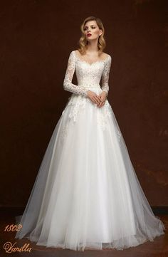 06a30f209b8 White long sleeve A-line Vintage Mariage Special Lace Design Tulle Sleeves  Wedding Dress Itemwd0545