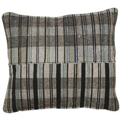 Japanese Rag Rug Pillow | From a unique collection of antique and modern pillows and throws at https://www.1stdibs.com/furniture/more-furniture-collectibles/pillows-throws/