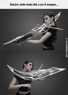 This is an electric violin
