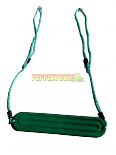 Swings - Roped Swing Seats - Ribbed Strap Seat on Adjustable Ropes- GREEN - by PEPPERTOWN online store $22.50 Tree Swings, Playground Swings, Outdoor Trees, Rope Swing, Swing Seat, Ropes, Activities For Kids, Store, Green
