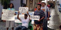 Tito Kayak sigue en huelga de hambre frente a La Fortaleza...