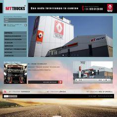 CORPORATE SITE DEVELOPMENT: Creativity, web design, programming, Back-office system (CMS). Corporate site of the distribution, repair and rent points network of the trademark Renault Trucks.  DESARROLLO DE LA WEB CORPORATIVA: Creatividad, diseño-web, programación, gestor de contenido (CMS). Web corporativa para la red de los puntos de distribución, reparación, alquiler de la marca Renault Trucks.  CLIENT/CLIENTE: MT TRUCKS - MOTOR TARREGA (Lleida, Spain)