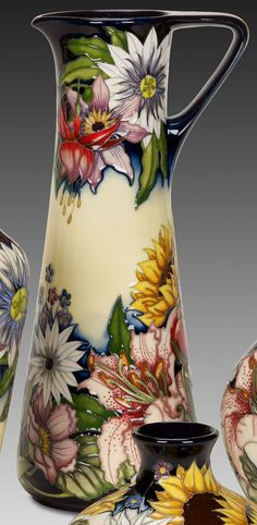 Moorcroft Sandbach Bouquet JU 3/12 - Numbered Editions - Moorcroft Pottery - Online Store - Expressions - Moorcroft, Georgini Jewellery,Chamilia Beads, Bronzes, Glass and more. 01799 526333