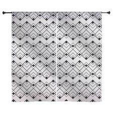 Silver Art Deco Curtains