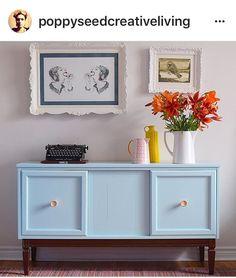 Blue Painted Sideboard | #BlueSideboard | Upcycled Sideboard | #UpcycledSideboard