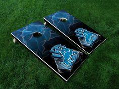 Detroit Lions Custom Cornhole Boards by BeerCityCornhole on Etsy