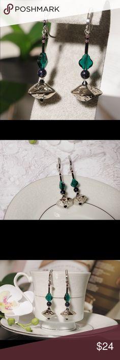 "Earrings handmade ""Marta"" Earrings ""Marta"". Sterling silver 925. The beads are from USA,Czech, Japan. Swarovski elements. Handmade. Beautiful unique design. spry lady cat Jewelry Earrings"