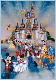 """❤️ Mickey, Miññie et les autres… ❤️  ~ [Encadrement et collage par MØi """"Løly""""] ~"""