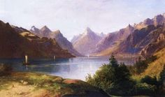 Landscape Painting by Hungarian Artist Karoly Telepy (1828-1906)
