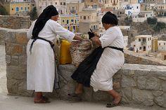 Karpathos - Women in costume . Zorba The Greek, Medieval Castle, Greek Life, Greece Travel, Greek Islands, Photojournalism, Beautiful Places, Karpathos Greece, Heaven