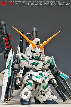 GUNDAM GUY: SD RX-0 Full Armor Unicorn Gundam w/ HG Parts - Customized Build